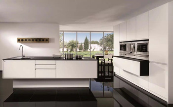 German quality matt white lacquer kitchen furniture