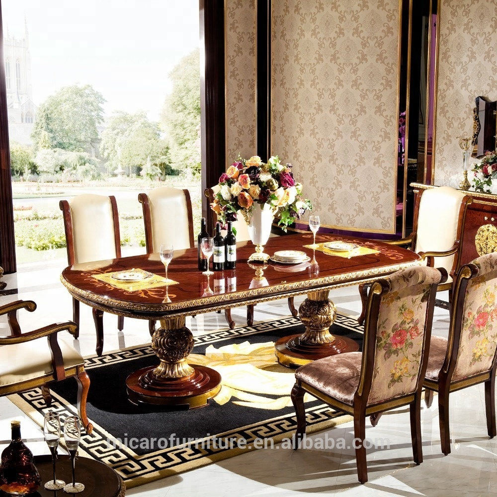 Astonishing M63 Luxury Italian Antique Baroque Wooden Dining Table Set Buy Antique Dining Table Set Baroque Dining Table Set Wooden Dining Table Set Product On Andrewgaddart Wooden Chair Designs For Living Room Andrewgaddartcom