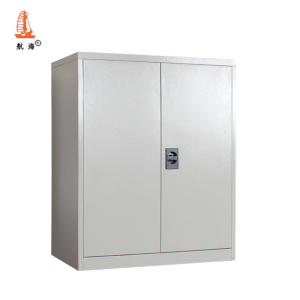 Light Gray Swing Door Half Height Steel File Cabinet