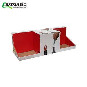 Customized Paper Counter Pdq Display Red wine Box