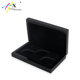 Glossy Black Wooden Commemorative Coin Box with Velvet Interior