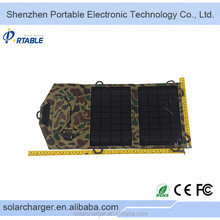 Factory Price solar panel wiring diagram,7W Compact folding fabric case flexible amorphous silicon solar panel