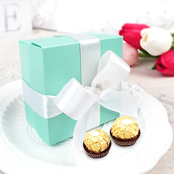 Aliexpress small Personality Creative Tiffany Blue candy box