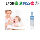 Best Selling Products Silicone Baby Spoon With Food Dispenser With FDA/LFGB Gerber Baby Food