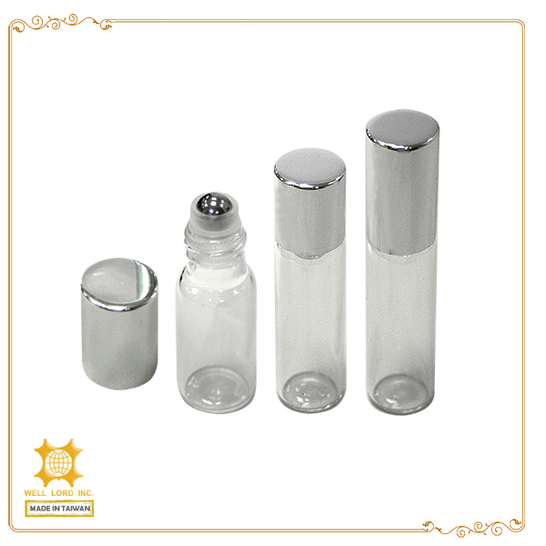 Hot fancy quality promised scent oil glass amber roll on bottle