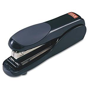 Wholesale CASE of 10 - Max USA Flat Clinch Full-strip Stapler-Flat Clinch Stapler, Full Strip, 23 Sheet Capacity, Black