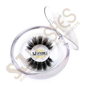 Private Label Wispy Hand Made Type Human Hair Eyelashes