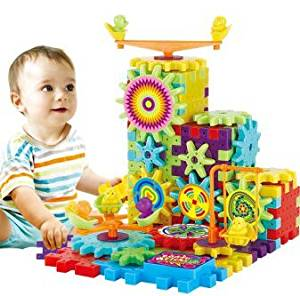 Children's educational toys electric blocks toys assembled 81 pieces of gear boxed snowflakes blocks construction pieces 81 pieces of boxed children