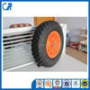 Colorful and environmental 400-8 pu foam solid wheel with plastic rim
