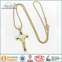 Handmade Gold Chain Crucifix Rosary Necklace/Cross Necklace