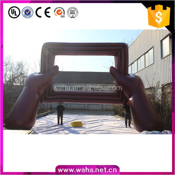 Outdoor custom photo frame event inflatable replica decoration