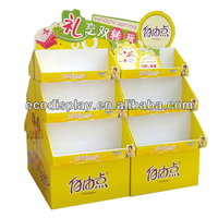 2014 ECO Sanitary towel Shelf of Cardboard Display Rack for Promotion Supermarket