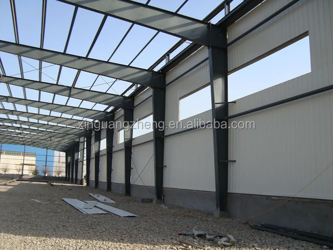 commercial prefabricated light low cost steel structure shed