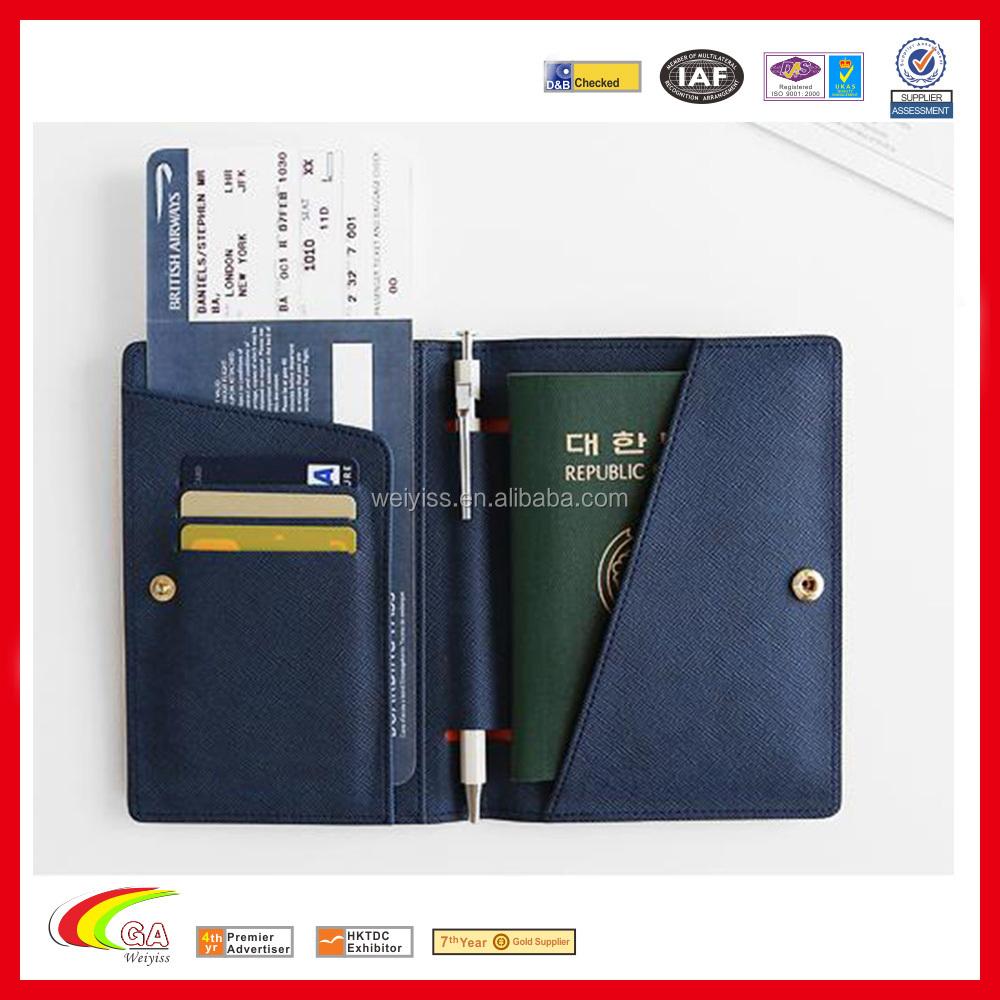 Colorful Korean Fashion Leather Passport Holder Pouch,Custom Logo ...
