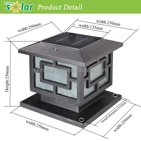 High Quality Hot Selling CE Outdoor Solar LED Pillar Light For Landscape Lighting  (JR 3018
