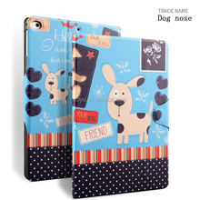 Dog nose case with magnet buckle for ipad air 1 2