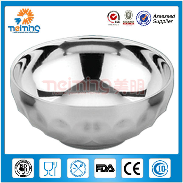 16cm stainless steel lily rice bowl