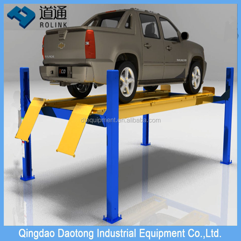 Factory supply 4 Post Double Parking hydraulic Car Lift with CE certificate