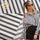 Hot Selling Woven Stripe Shirting Material Poplin Tc Yarn Dyed Cotton Blend Fabric