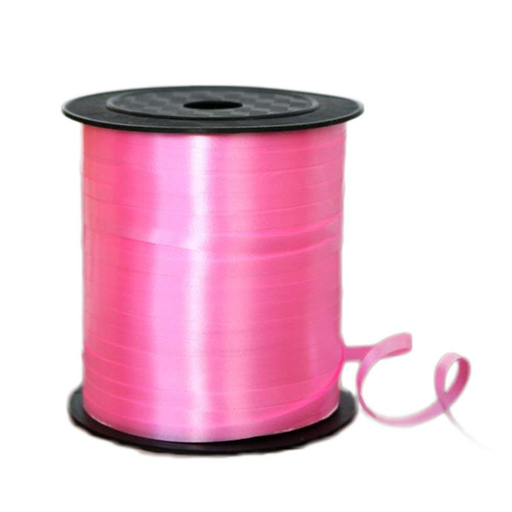 Da.Wa Decorative Balloon Strap Curling Crimped Ribbon Roll Gift Wrapping Ribbon String Craft Ribbon for Sewing Crafts (Pink)