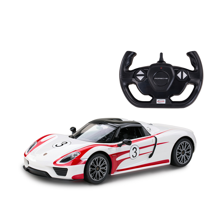 RASTAR Top design licensed PORSCHE 918 Spyder 1 14 scale model car toy