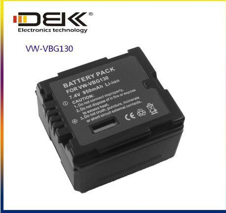 VW-VBG130 Camcorder Battery For Panasonic HDC-SD9, HDC-HS9, HDC-SX5, HDC-DX1