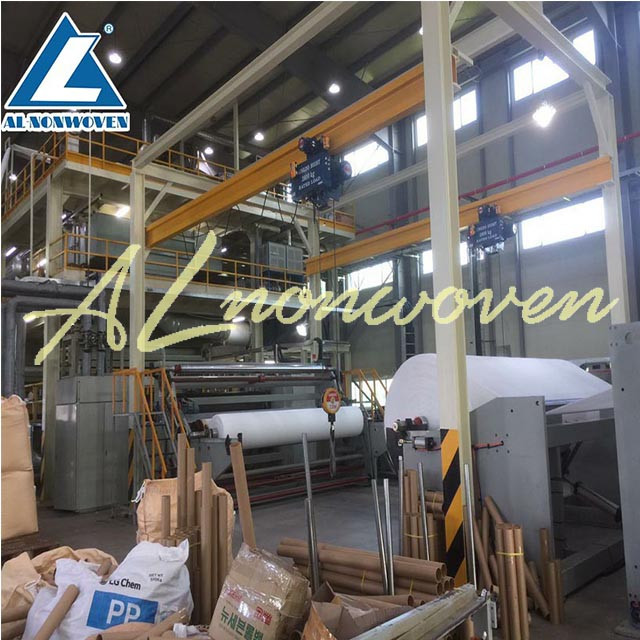 Most Welcome AL-1600MM SSS PP Spunbond Non woven Fabric Making Machine With Low Price