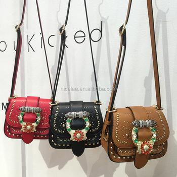 Ns1636 Korean Fashion Women Diamond Y Elegant Handbags