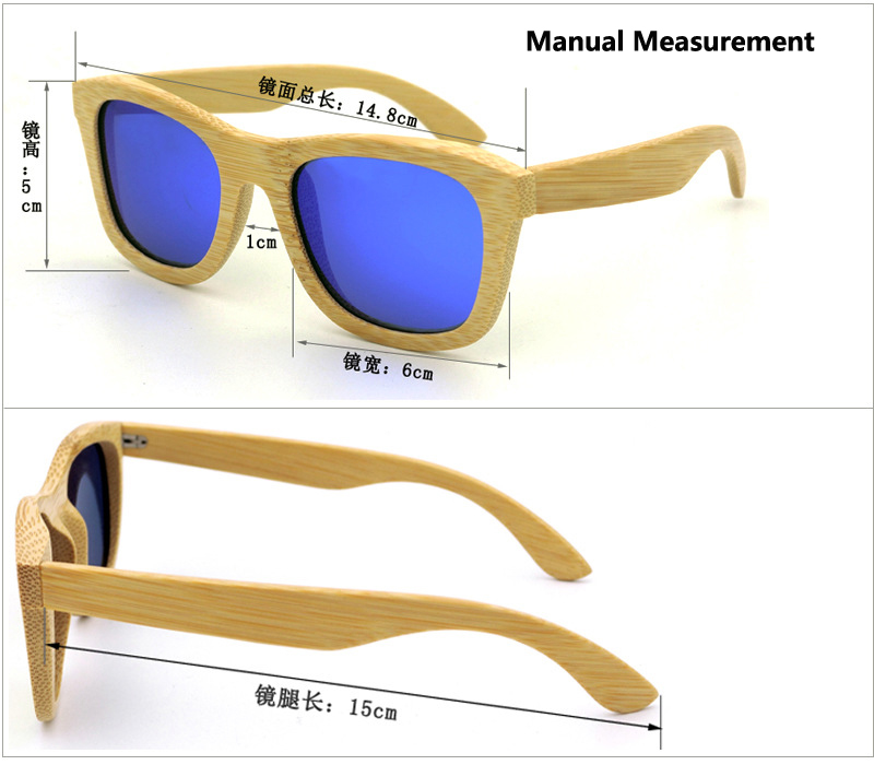 86d45c2726e324 Polarized Wood bamboo Sunglasses Men women Polaroid square for men women  Mirror Sun Glasses retro de