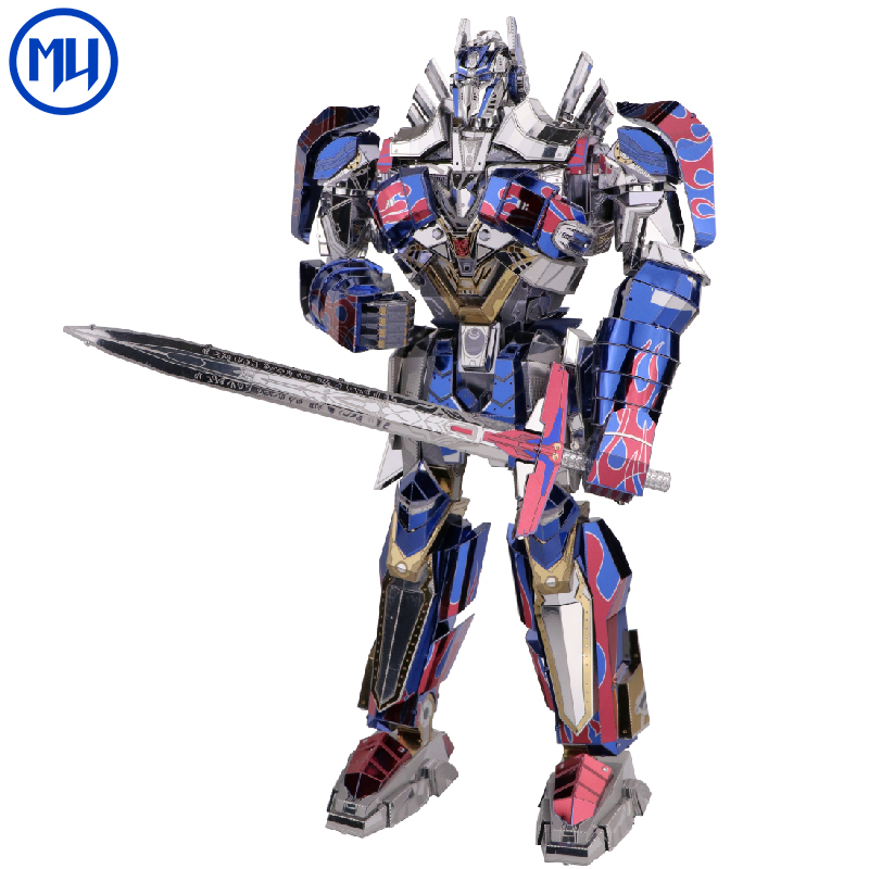 Hasbro Genuine Licensed Transformer Metal Puzzle Model 3d diy Magnetic Assembly Puzzle toys for Adults