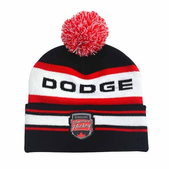 c82b1a7d3d7 High Quality Custom Wool Jacquard Embroidered Sport Winter Knitted Beanie  Hat Cap With Pom Pom