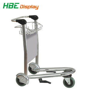 6063 high strength aluminum alloy passenger baggage airport trolley for international airport