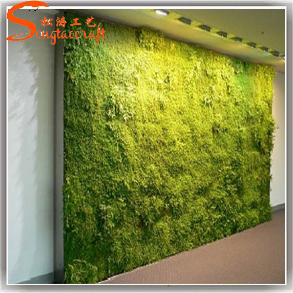 Planta artificial pl stico paredes muro verde jard n for Jardin vertical pvc