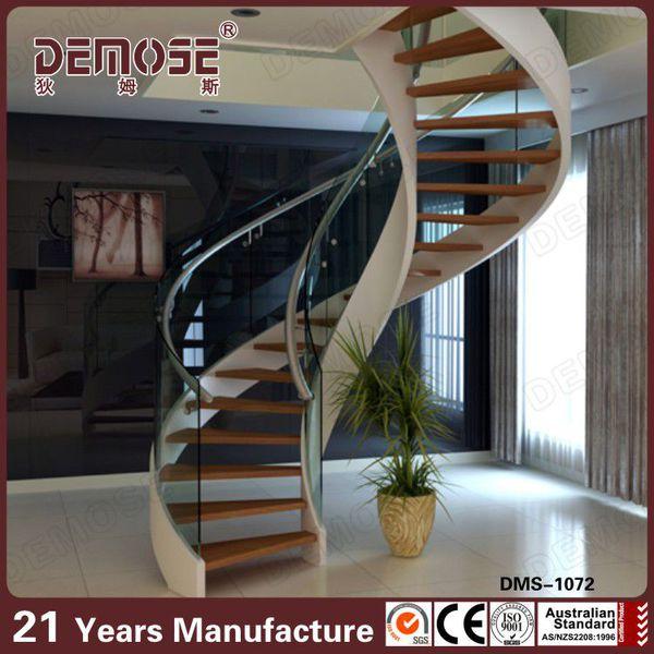 Venta al por mayor piezas de escaleras de madera compre - Escalera caracol prefabricada ...