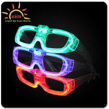 High quality new products flashing led EL wire sound activated sunglasses