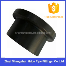DN180mm Butt fusion pe pipes fitting/ stub end flange SDR17 PN10