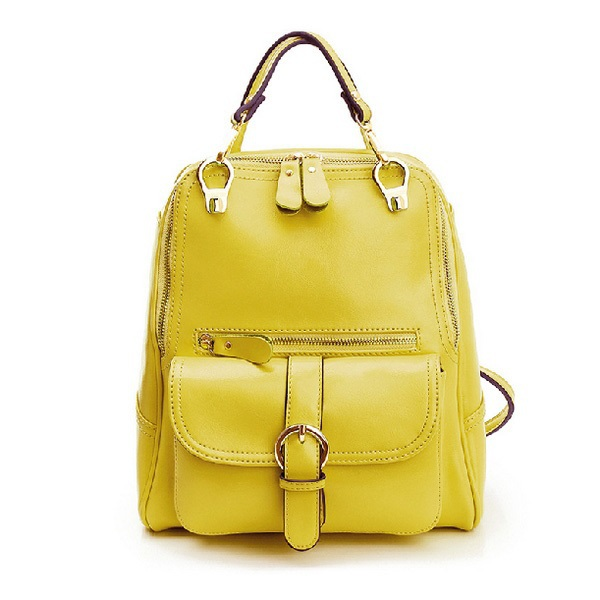 Genuine Leather Children Backpacks Waterproof Yellow Pink Cute Bags For Women Lovable Lovely School Teenager Backpack For Girls