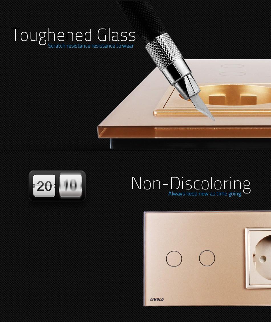 Livolo 2 Gang Touchscreen Schalter Mit Kontrollleuchte Und Eu ...