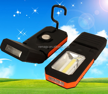 new 3led foldable cob plastic work light with magnet led working light with hook