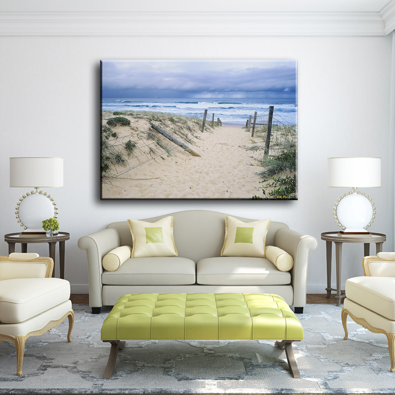 Cheap stand road and sea beautiful seascape scenery canvas art painting