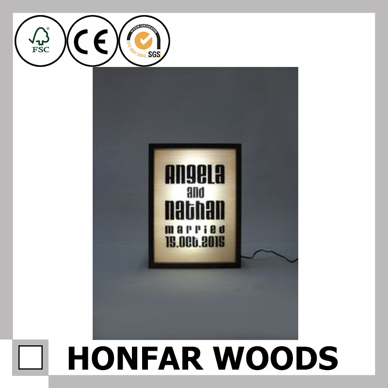 2017 LED Wooden frame for hanging wall painting frame for India online shopping
