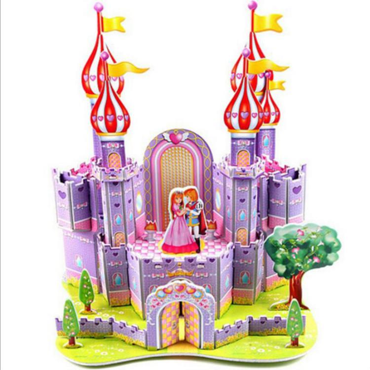 QS bán buôn kid đồ chơi thủ công đồ chơi TỰ LÀM 3D đồ chơi câu đố cho trẻ em nhà búp bê búp bê