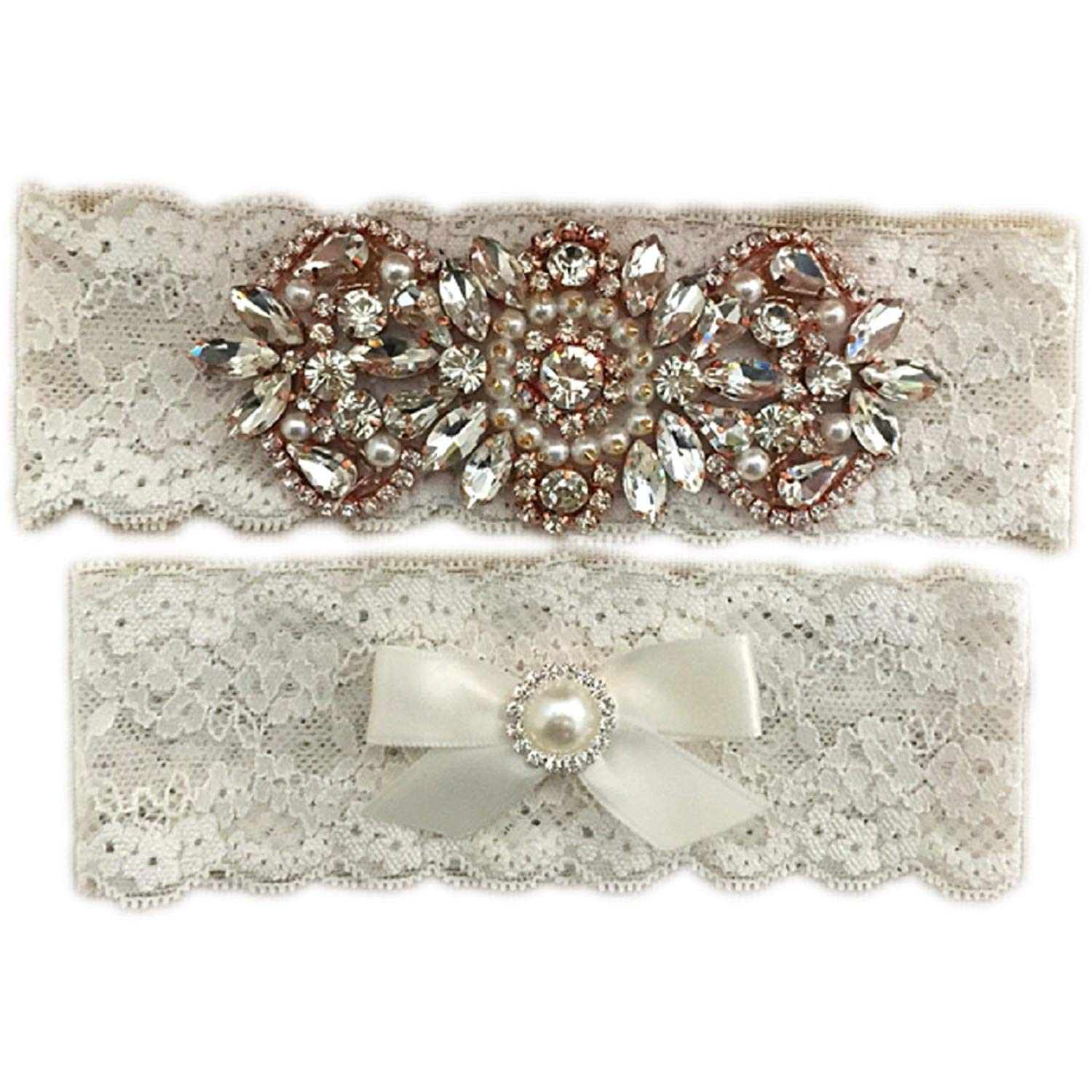 1ad66e7943e Buy Rose Gold Wedding Garter