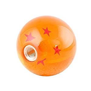 Kingru Dragon ball Z Star 54mm Diameter Manual Stick Shift Knob With Adapters -4 Stars