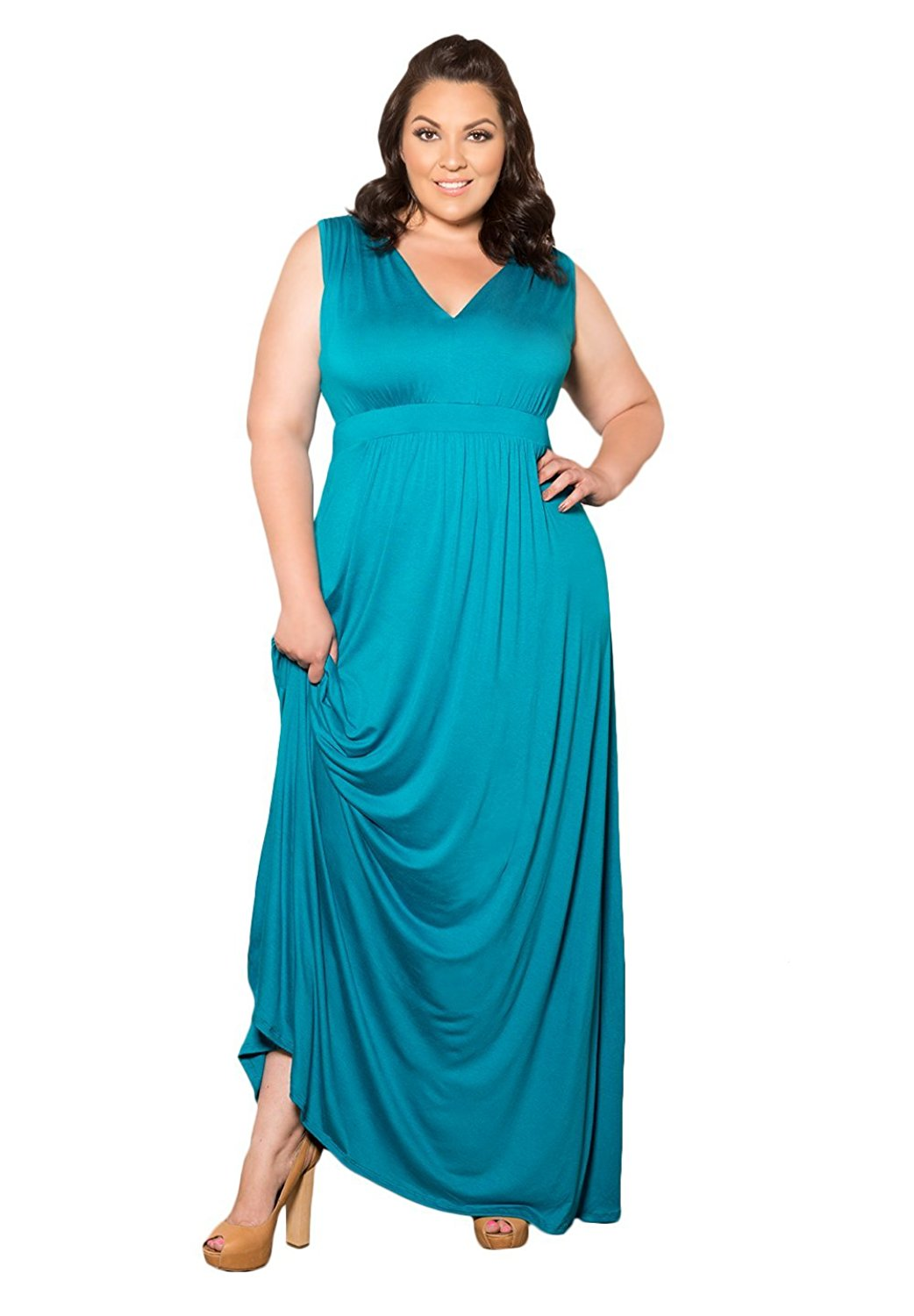ef63b430624 Get Quotations · SWAK Designs Womens Plus Size Sleeveless Maxi Bonnie Maxi  Dress