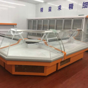 High quality combined display freezer/refrigerator showcase used for supermarket