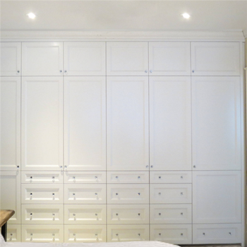 Unfinished Wood Wardrobe With Shaker Style White Corner Armoire