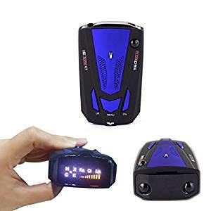 EFORCAR(TM) 1pcs 360 Degree Anti-Police Gps Car Detector Speed Dector Speed Alarm (Blue)