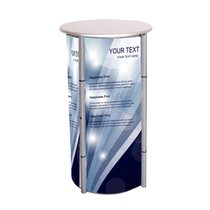 aluminum rotating tower counter display for jewellery