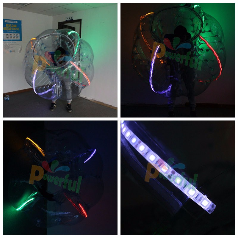 New LED lighting human sized buddy bumper ball for adult
